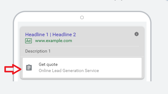 where does Google lead Form Generation shows up